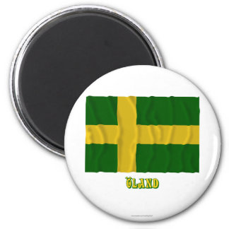 Öland waving flag with name (unofficial) magnet