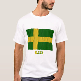 Öland waving flag with name (unofficial) T-Shirt