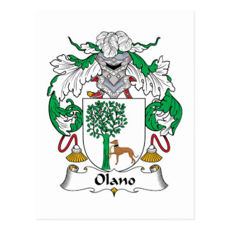 Olano Family Crest Postcard