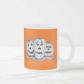 O'Lantern Brothers Frosted Glass Coffee Mug
