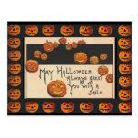 o'Lanterns sonrientes de Halloween Jack del vintag