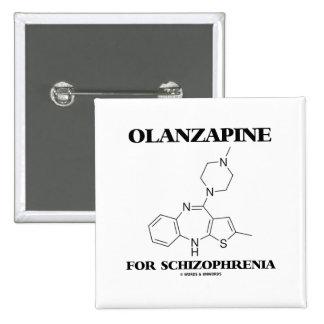 Olanzapine para la esquizofrenia (molécula química pin cuadrado