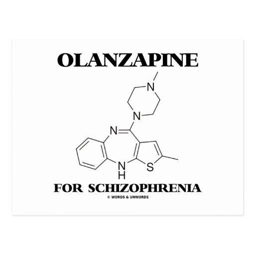 Olanzapine para la esquizofrenia (molécula química postal