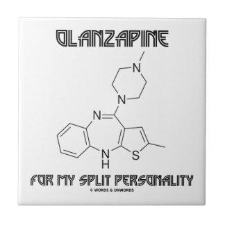 Olanzapine para mi doble personalidad (química) azulejo cuadrado pequeño