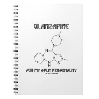 Olanzapine para mi doble personalidad (química) spiral notebooks
