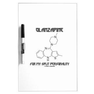 Olanzapine para mi doble personalidad (química) tableros blancos