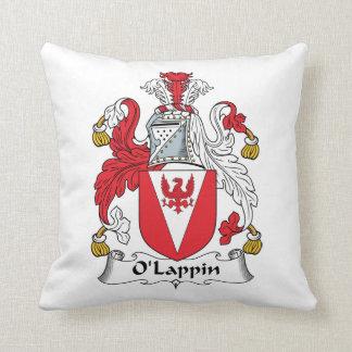O'Lappin Family Crest Throw Pillow