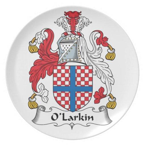 O'Larkin Family Crest Plates