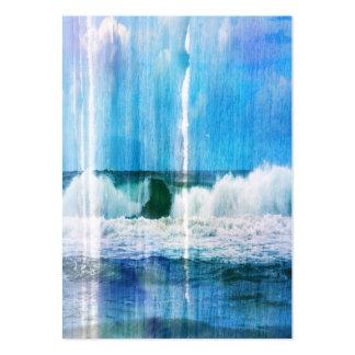 Olas oceánicas abstractas tarjetas de visita