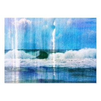 Olas oceánicas abstractas plantilla de tarjeta de visita