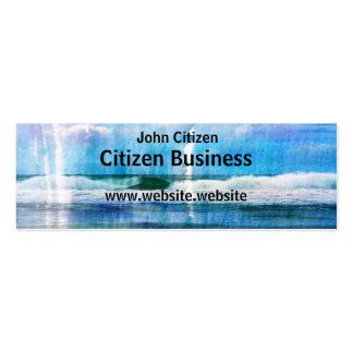 Olas oceánicas abstractas tarjeta de negocio