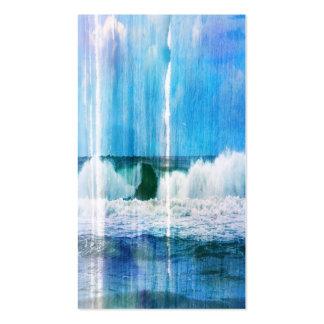Olas oceánicas abstractas tarjeta de visita