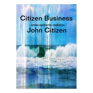 Olas oceánicas abstractas plantillas de tarjeta de negocio