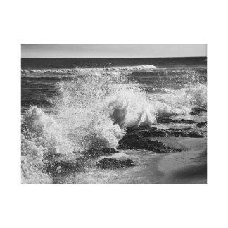 Olas oceánicas adaptación Oahu Impresión En Lienzo
