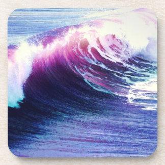 Olas oceánicas coloridas posavasos