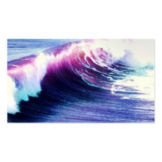 Olas oceánicas coloridas plantilla de tarjeta personal