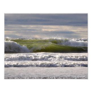 ¡olas oceánicas de 11X14 el Pacífico! Fotografías