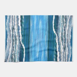 Olas oceánicas de la resaca de la decoración del toallas