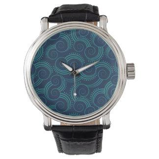 Olas oceánicas de Swirly Relojes De Mano