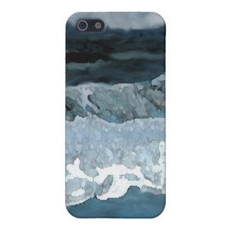 Olas oceánicas en el paisaje marino de CricketDian iPhone 5 Protectores