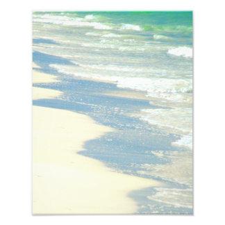 Olas oceánicas en la foto de la playa fotografía