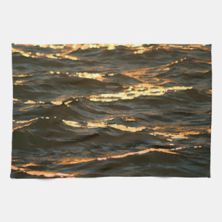 olas oceánicas en la playa de la Florida del Toallas De Mano
