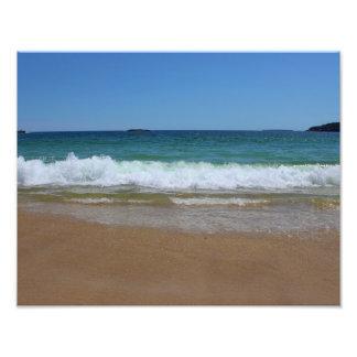 Olas oceánicas en la playa II de la arena Fotografías
