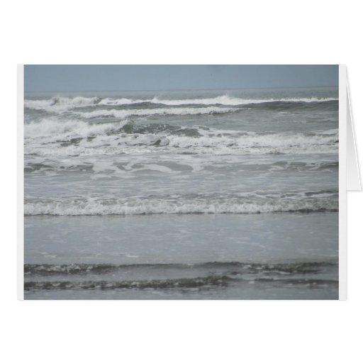 Olas oceánicas felicitaciones