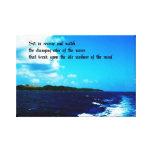 Olas oceánicas impresión en lona estirada
