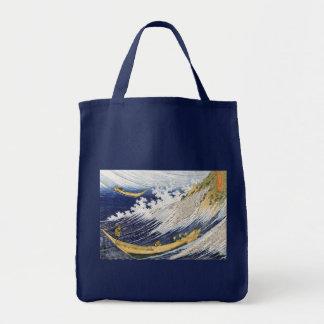 Olas oceánicas, Katsushika Hokusai Bolsa