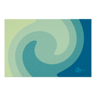 Olas oceánicas poster