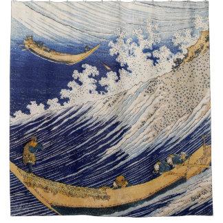 Olas oceánicas por la cortina de ducha de Hokusai Cortina De Baño