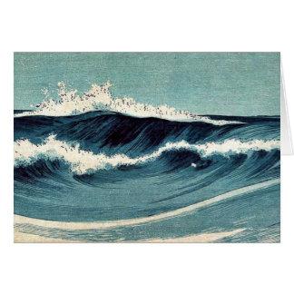 Olas oceánicas por Uehara, Konen Ukiyoe Tarjetas