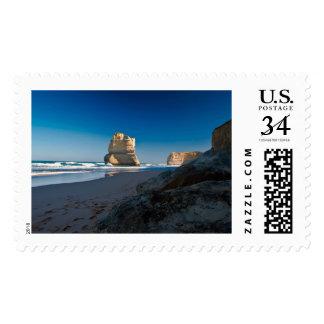 Olas oceánicas sello postal
