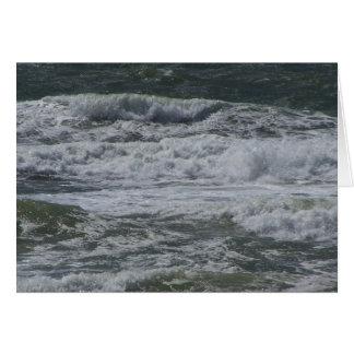 Olas oceánicas tarjeta pequeña