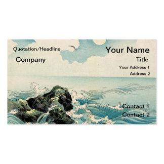 Olas oceánicas tarjeta personal