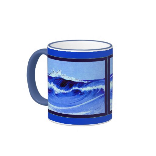 Olas oceánicas taza de café