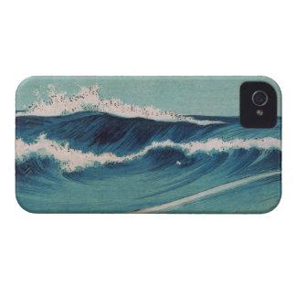Olas oceánicas - Uehara Konen iPhone 4 Case-Mate Coberturas
