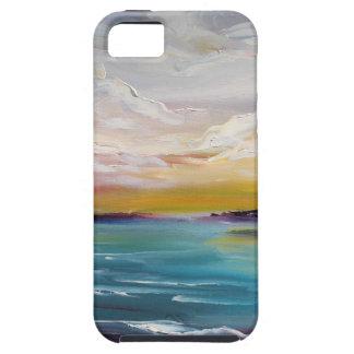 Olas oceánicas y nubes surrealistas iPhone 5 Case-Mate cárcasa
