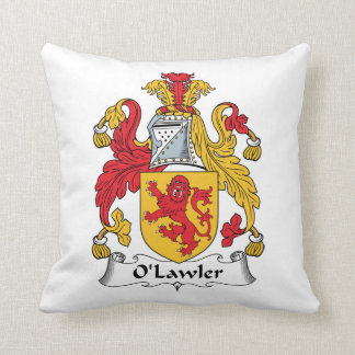 O'Lawler Family Crest Pillow