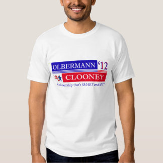 Olbermann Clooney election t-shirt