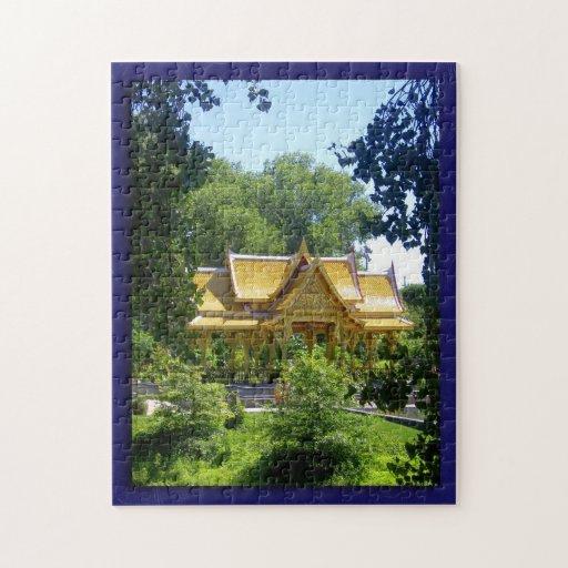 Olbrich Botanical Gardens Thai Pavilion And Garden Puzzle Zazzle