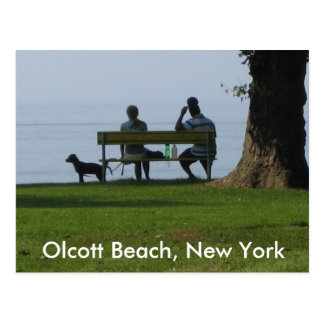 Olcott Beach, New York Postcard