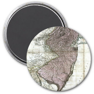 Old 1777 New Jersey Map 3 Inch Round Magnet