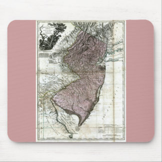 Old 1777 New Jersey Map Mouse Pad