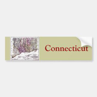 Old 1796 Connecticut Map Bumper Sticker