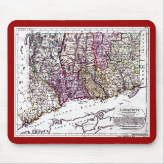 Old 1796 Connecticut Map Mouse Pad