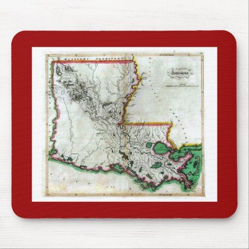 Old 1814 Louisiana Map Mouse Pad