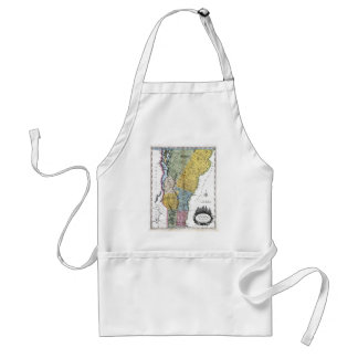 Old 1814 Vermont Map Adult Apron