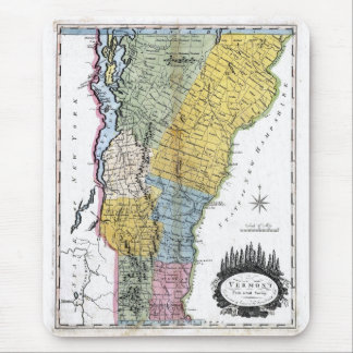 Old 1814 Vermont Map Mouse Pad